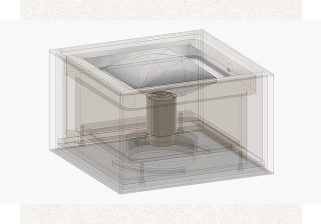 Egyedi kristály spot 3D formaterv